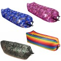 Banana sleeping bag sacco materassino gonfiabile nylon impermeabile