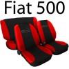 Coprisedili 500 nuova bicolore nero-rosso