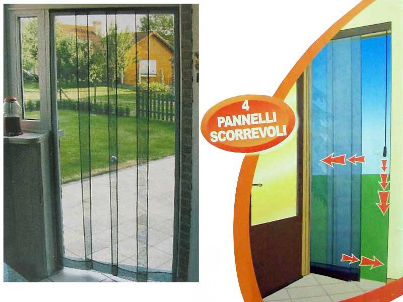 Zanzariera Finestra Porte 100x220 4 Pannelli Scorrevoli Ebay