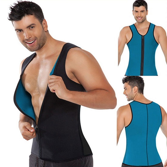 HOT SHAPERS CANOTTA UOMO ZIP SAUNA SNELLENTE TRAINING MAGLIA DIMAGRANTE PALESTRA