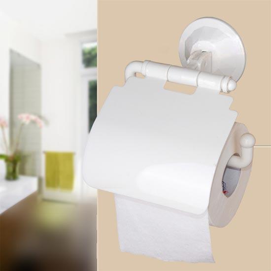 Base porta rotolo carta igienica a ventosa - Bucare piastrelle bagno ...