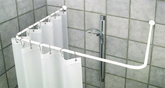 Bastone Per Tenda Vasca Da Bagno Angolare : Bastone per sostegno tenda doccia cm bastone bianco
